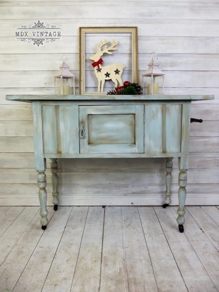 Rustic Blue Sky Victorian Washstand/Console Table