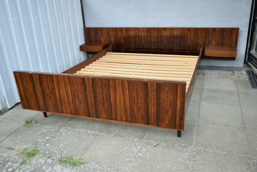 danish midcentury rosewood floating bed by sannemans mobelfabrik 1960 s 1960s