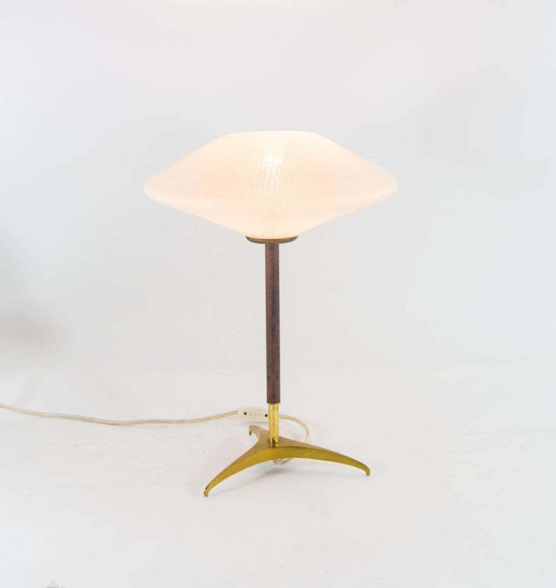 Midcentury Tripod Table Lamp Space Age Design Vintage 60s Louis Kalff Attributed Louis Kalff Vinterior