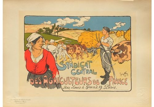 Fay Georges   Poster In Lithograph   Central Union Of Farmers Of France