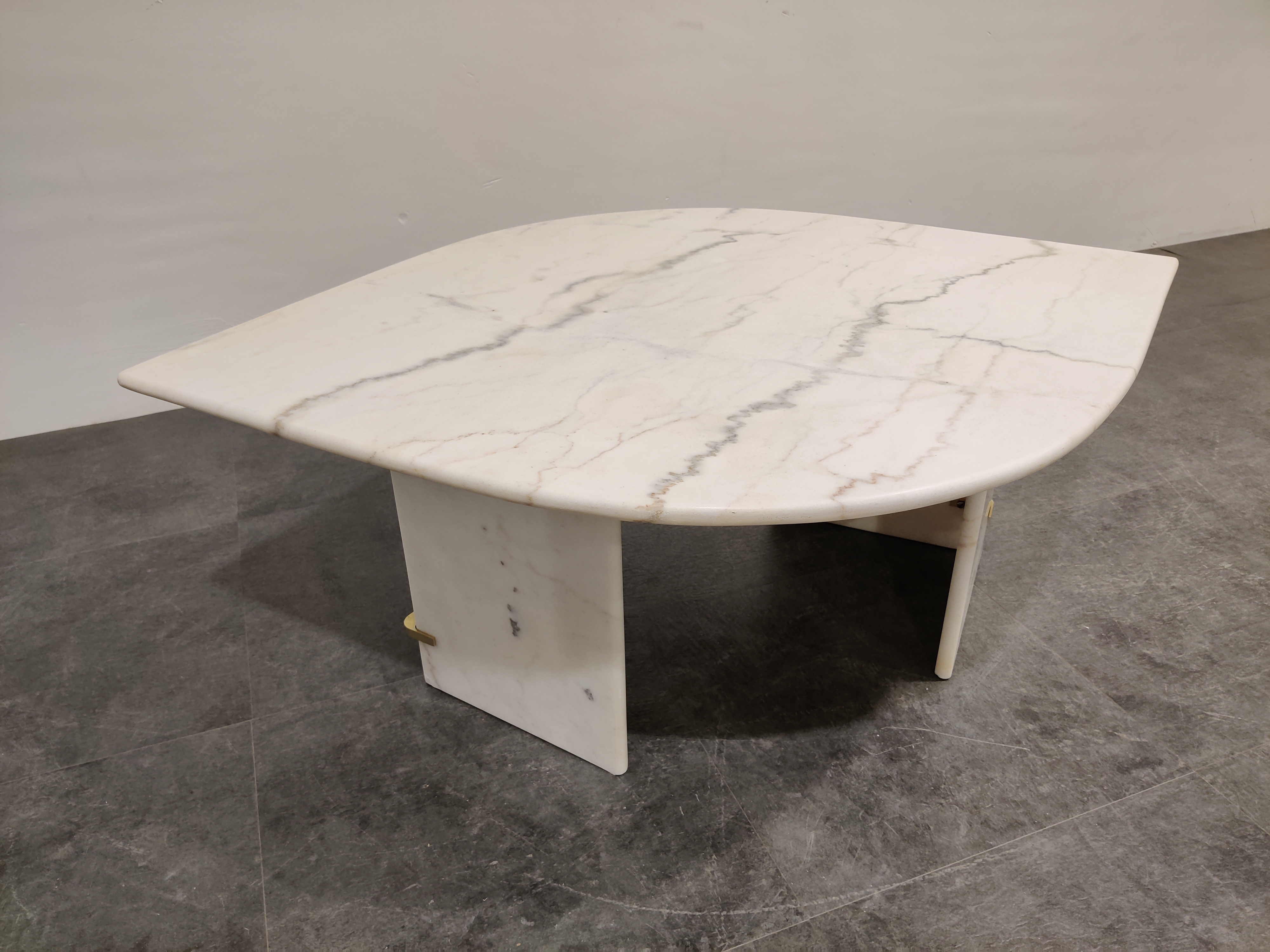 Vintage White Marble Coffee Table 1970s Vinterior