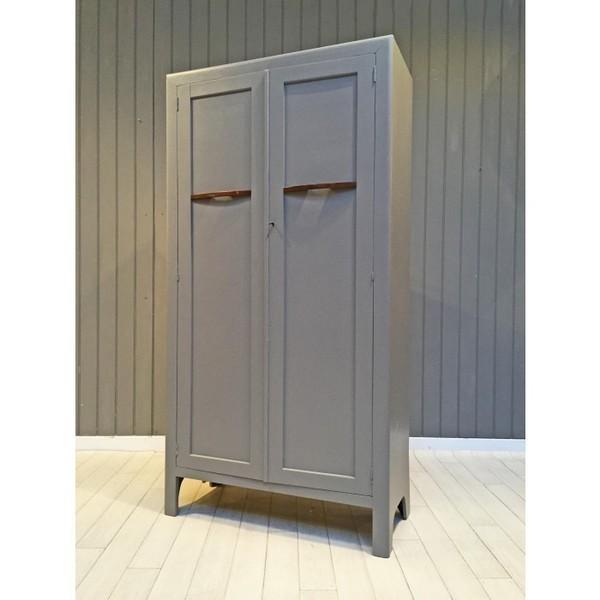 Grey Oak Painted Wardrobe