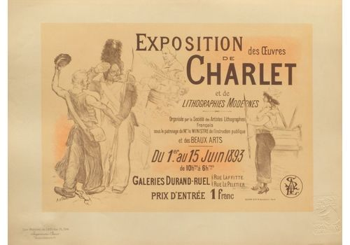 Willette Adolphe   Lithograph Poster   Charlet Exhibition