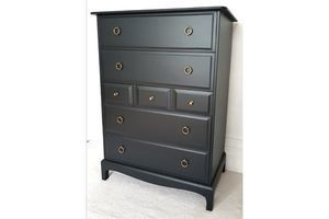 Thumb stag minstrel grey tallboy john sylvia reid upcycled vintage chest of drawers midcentury furniture 1970s 0