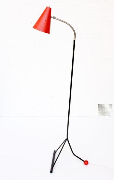 Rare Dutch Metal Floor Lamp By Hala Zeist, 1950s