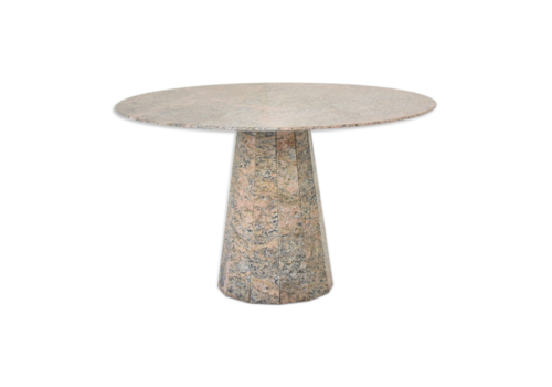Round Dining Table In Granite From Italy, 1970