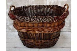 Thumb antique french champagne grape harvest basket 1900s france 0