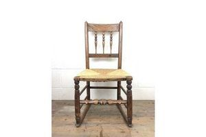Thumb antique ash and elm rocking chair with rush seat unknown 0