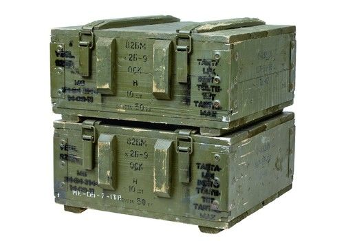 Pair Of Mid 20 Th Century Swedish Pine Ammo Boxes