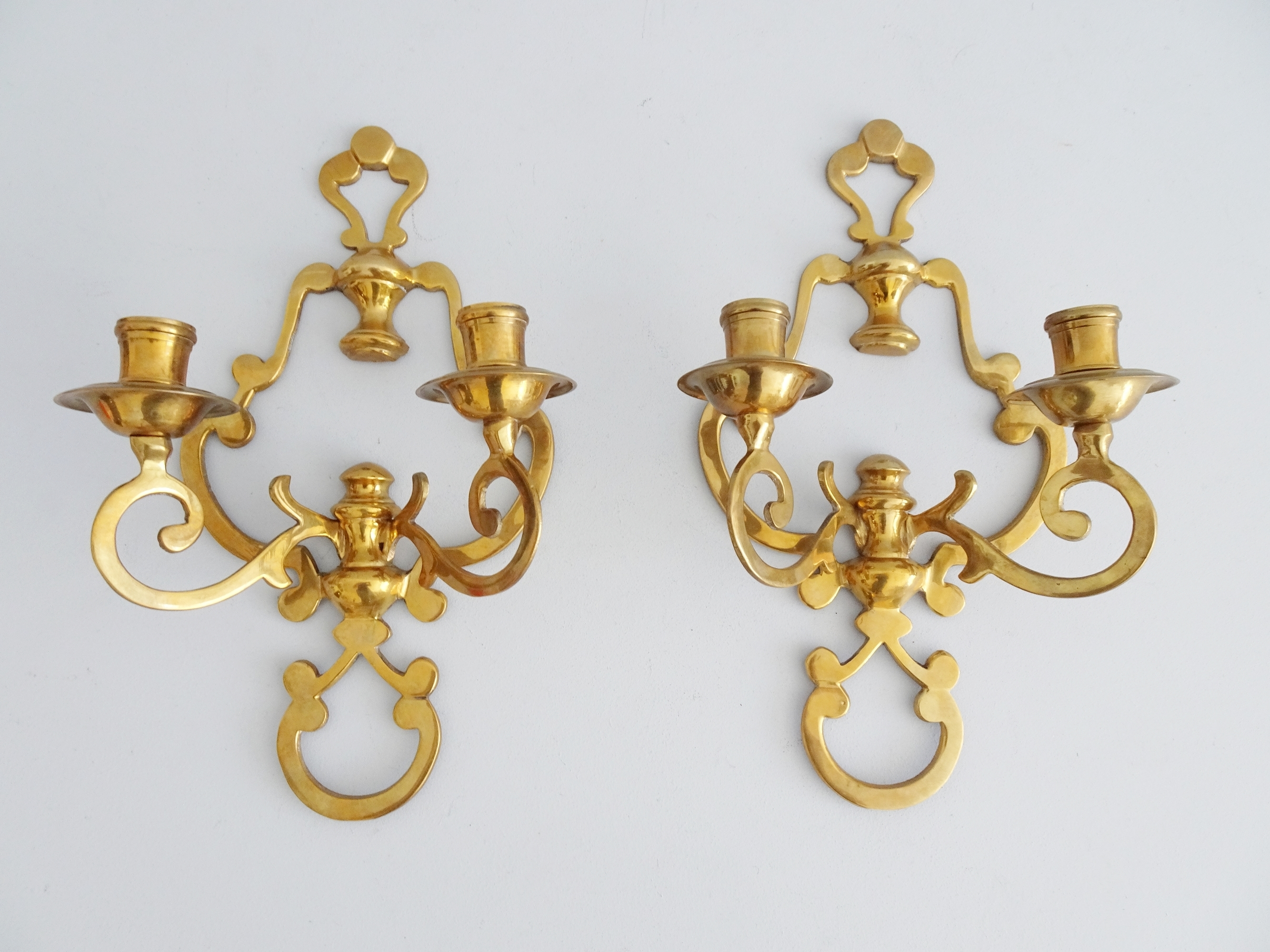Wall Candle Holder Brass Candle Holder Set Made Of Cast Brass Wall Sconce Vinterior
