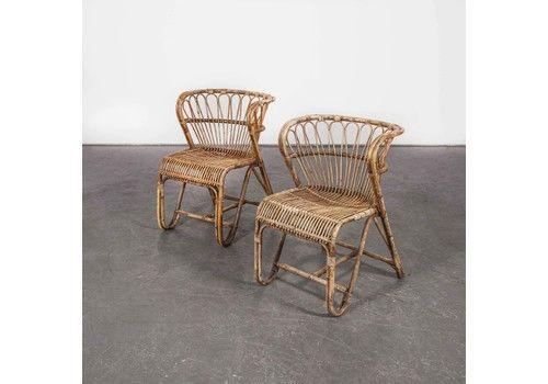 1950 S Pair Of Rattan Viggo Boesen Chairs