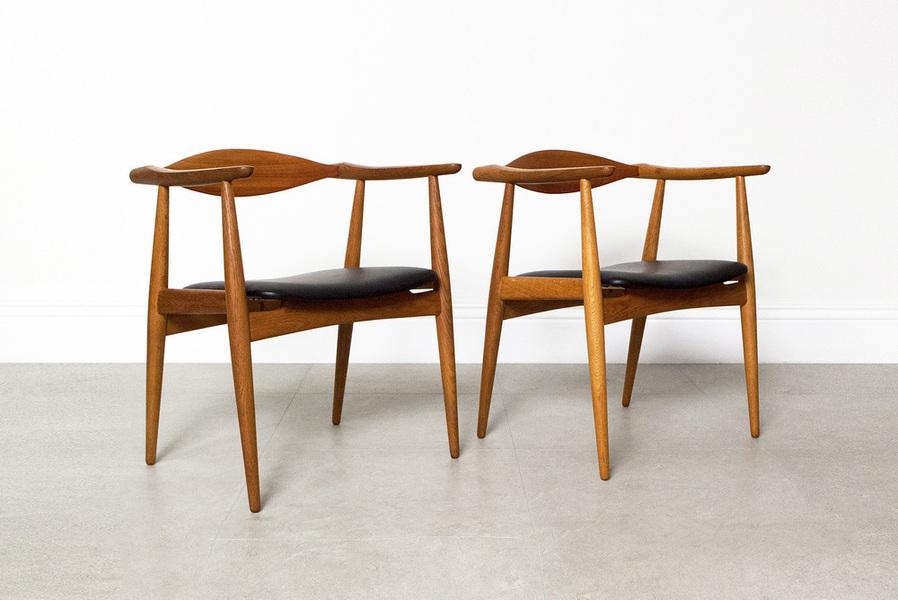Hans Wegner For Carl Hansen & Son Ch 35 Chairs