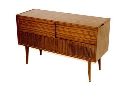 Swedish Vinyl Radio Cabinet From Saba, 1960s