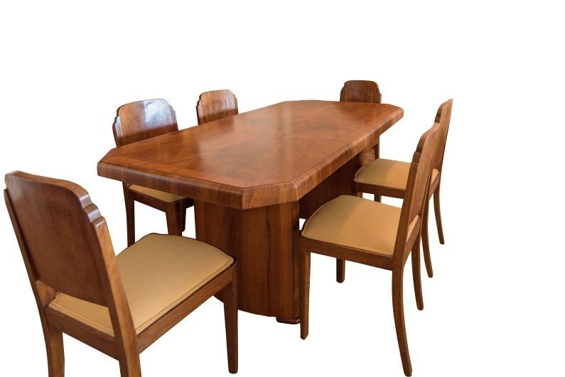 Art Deco Dining Table Walnut Vinterior