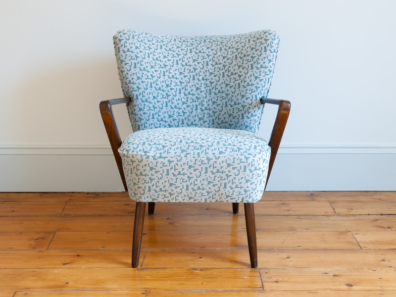 Pair Of 1940 S French Cocktail Armchairs