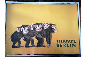 Thumb vintage 1970s tierpark berlin original zoo poster advertising of baby chimpanzees 3bc1e0b8 e7ec 4edb b5d2 d4b4b4812e1b 0