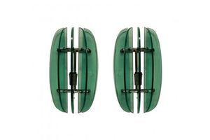 Thumb a pair of green glass wall lights by veca 1950s italy 0