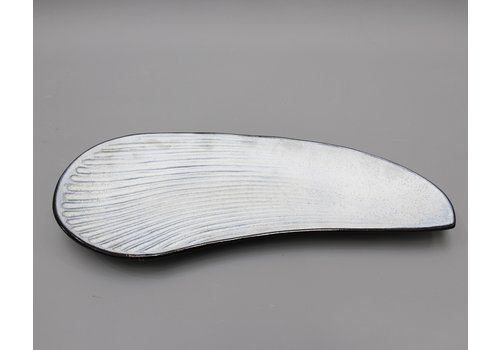 Oyster Shell Shaped Ceramic Tray By Marcel Guillot (Circa 1960s)
