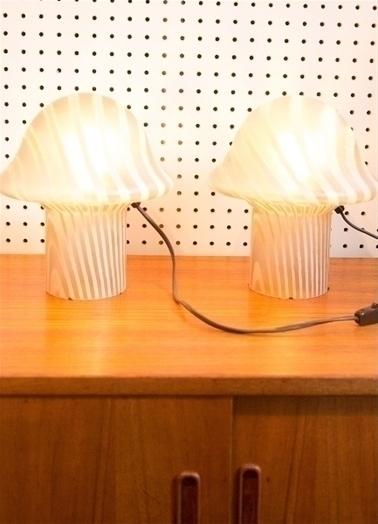 Pair Of Peill & Putzler Mushroom Lamps
