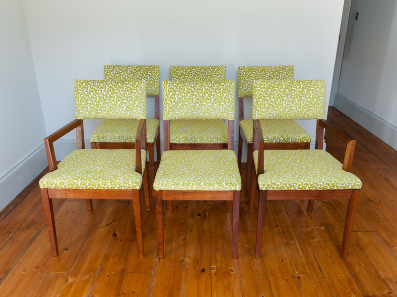 Six De La Espada Walnut Dining Chairs photo 1
