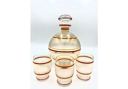 Bohemian Glass Decanter Set