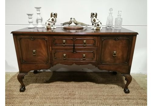 Antique Chippendale Sideboard  Antique Mahogany Server Drawers Circa 1900