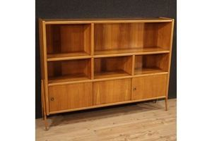 Thumb italian design bookcase in exotic wood 1960s 0