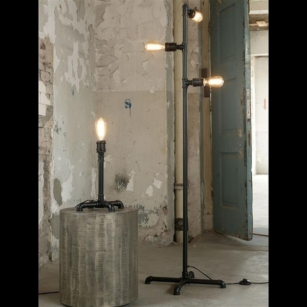 Tall Industrial Pipe Floor Lamp.
