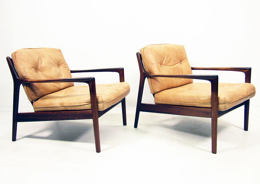 Pair Of Folke Ohlsson For Dux Usa 75 Chairs photo 1