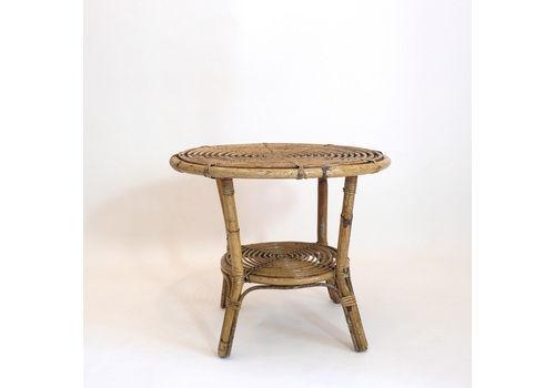 Tito Agnoli, A Rattan Garden Coffee Table, Bonacina, 1960's. En