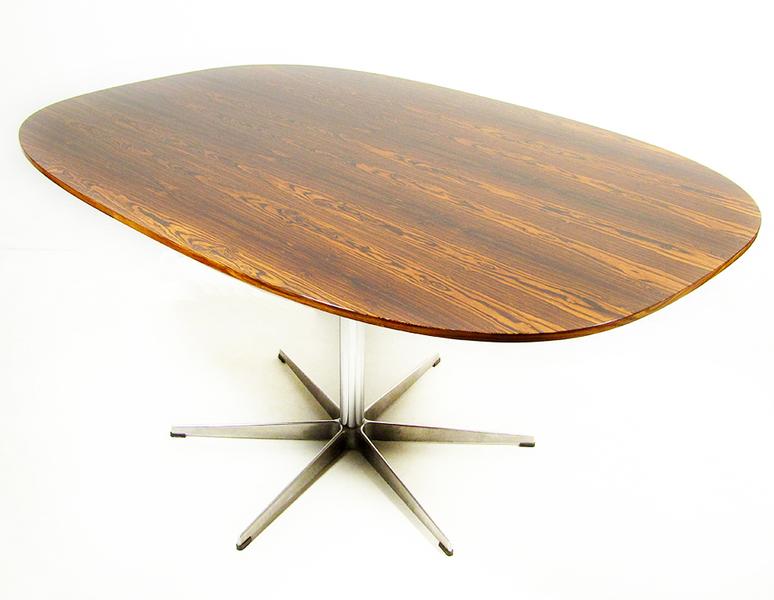 Piet Hein & Arne Jacobsen For Fritz Hansen Super Ellipse Dining Table