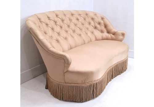 A 19th Century French Napoleon III Buttoned Two Seater Sofa
