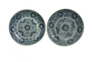 Thumb pair of qing chrysanthemum pattern plates 1800s unknown united kingdom of great britain and northern ireland 0