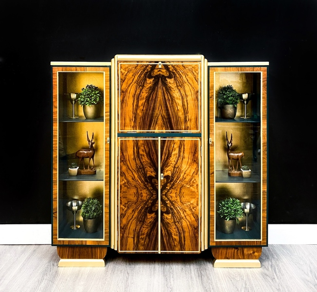 Available To Commission. Grace Art Deco Drinks Cabinet And Cocktails Bar