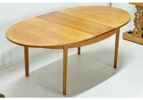 Mid Century Modern William Lawrence Teak Extending Dining Table