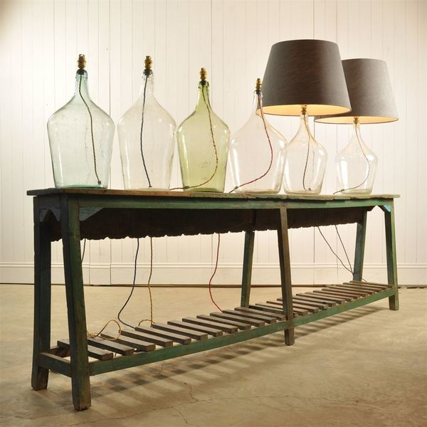 Upcycled Clear Bottle Lamps