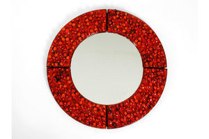 Thumb extraordinary mid century wall mirror with heavy ceramic frame by hans welling for ceramano 0