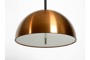 Thumb rare original 1970s space age staff pendant lamp with copper shade in mint condition 0