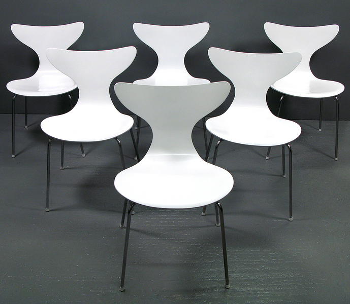 Set Of 6 Arne Jacobsen For Fritz Hansen Seagull Chairs