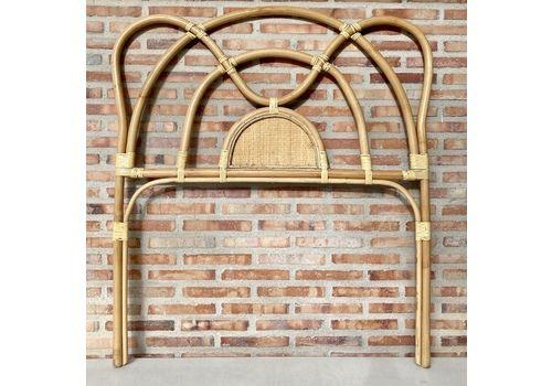 Mid Century Bamboo And Rattan Single Headboard Bed