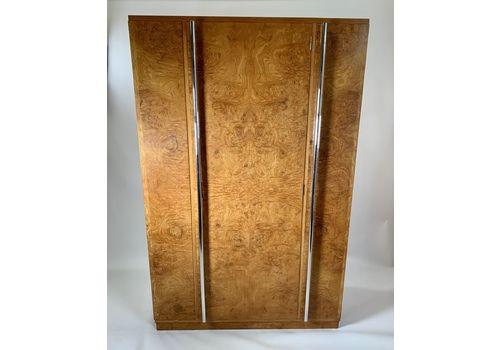 Art Deco Figured Ash Wardrobe By Bath Art Craft Ltd, Bath Cabinet Makers