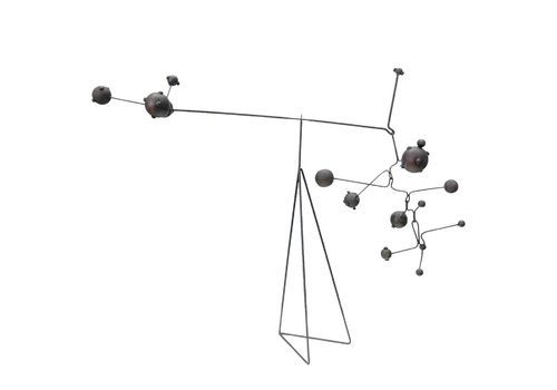 Movable Patinated Metal Kinetic Sculpture