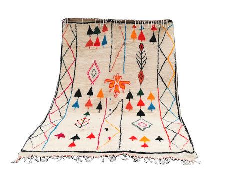 Large Colourful Uzbek  Berber Rug. Handmade Woven 8.8x5.5