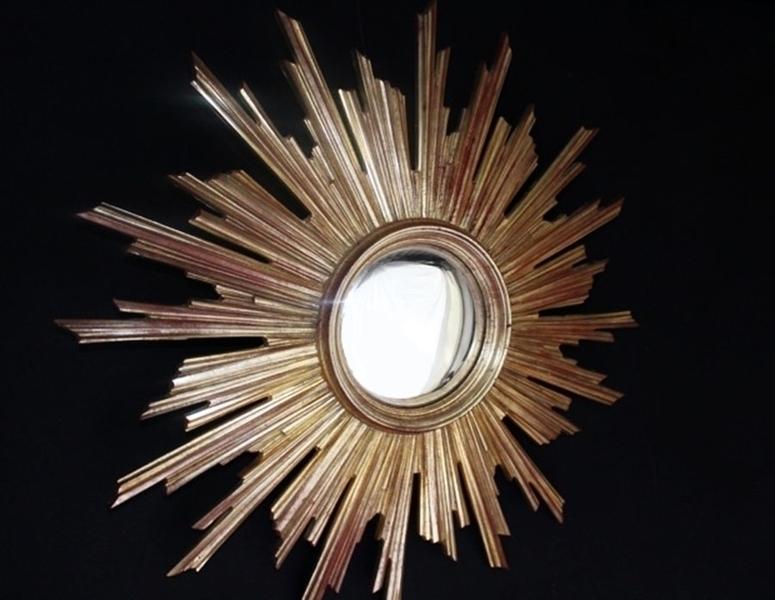French Sunburst Mirror 69 Cm