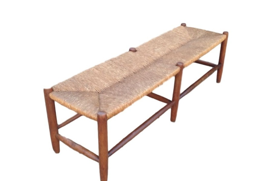 Restored Classic Rattan Bench By Norman Wilkinson