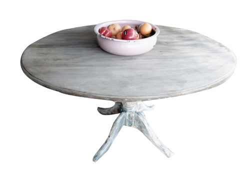 Gustavean Style Oval Rustic Pedestal Dining  Kitchen Table  Seats 5 Comfortably