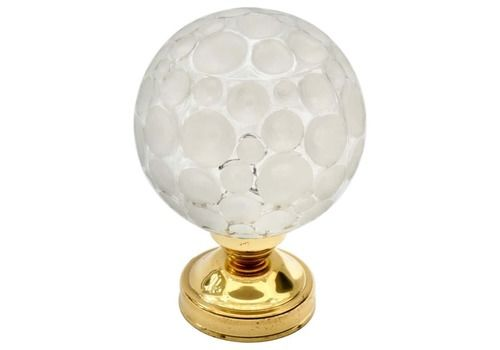 Brass And Glass Globe Table Lamp, Germany, 1970s