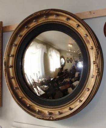 19th Century Convex Mirror photo 1