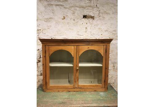 Rustic Victorian Glazed 2 Door Cabinet