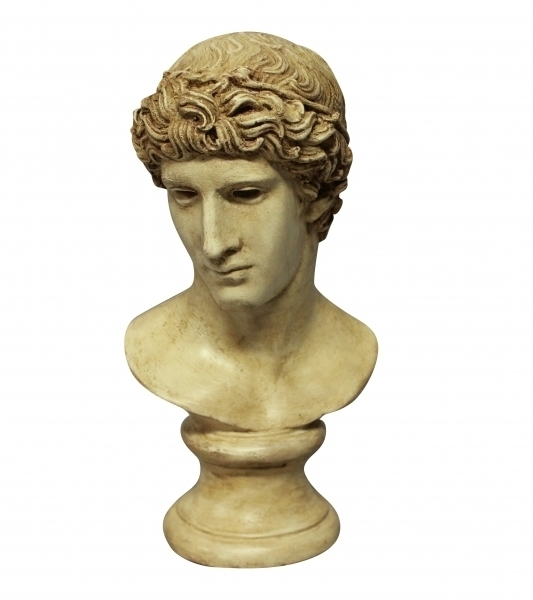 A Painted Plaster Head Of A Roman Youth